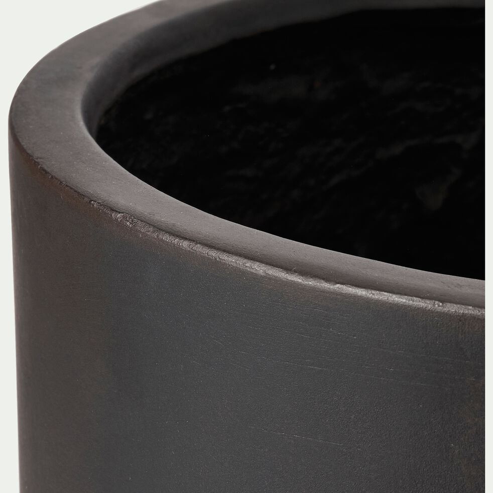Pot en ciment noir h41xd40 cm-DAKHLA