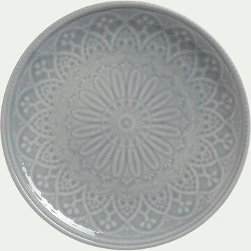 Assiette à dessert en faïence - D20,5cm gris borie-POUDHA