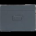 Malle en acier grise L56xl35xH25cm-ALSA