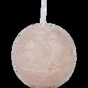 Bougie ronde rose sable D8cm-BEJAIA