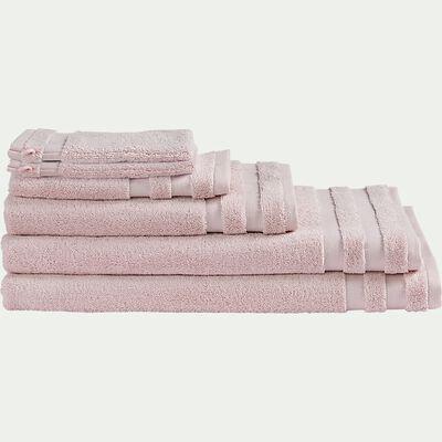 Drap de bain en coton - rose simos 100x150cm-Rania