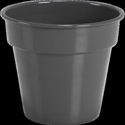 Cache-pot gris restanque en fer D22xH20cm-FLORA