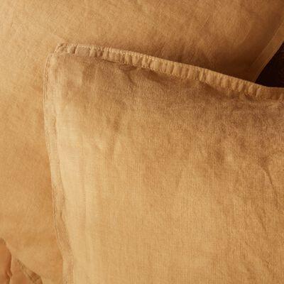 Lot de 2 taies d'oreiller en lin - beige nèfle 50x70cm-VENCE