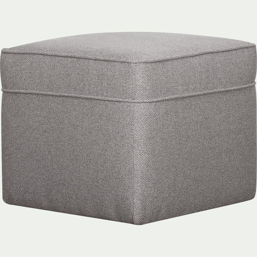 Pouf en tissu - gris moyen-BARTHOLE