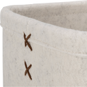 Lot de 2 paniers en feutrine blanc-VIC