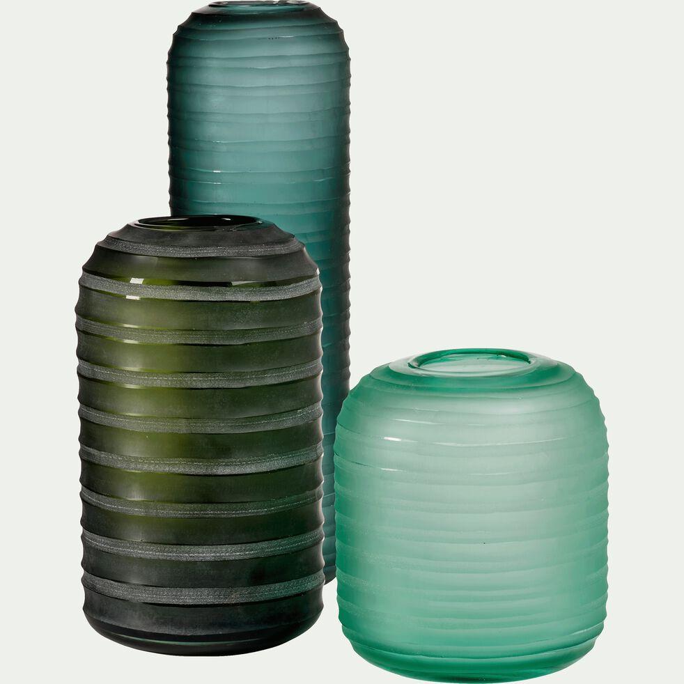 Vase teinté en verre - vert H22cm-ANDREA