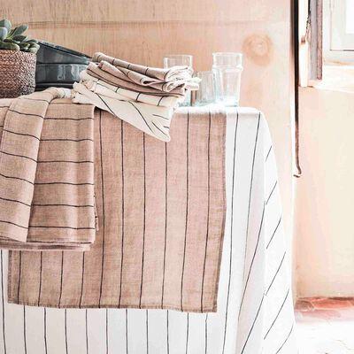 Gamme de linge de table en lin beige-BORSALINO
