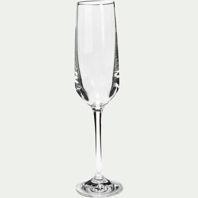 Coffret de 6 flûtes à champagne en cristallin - 180ml-Scena