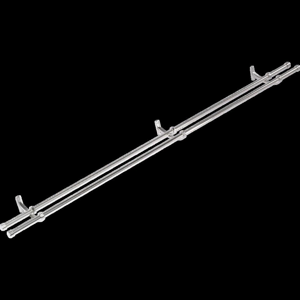 Tringle double extensible 170 à 300 cm-Paddy