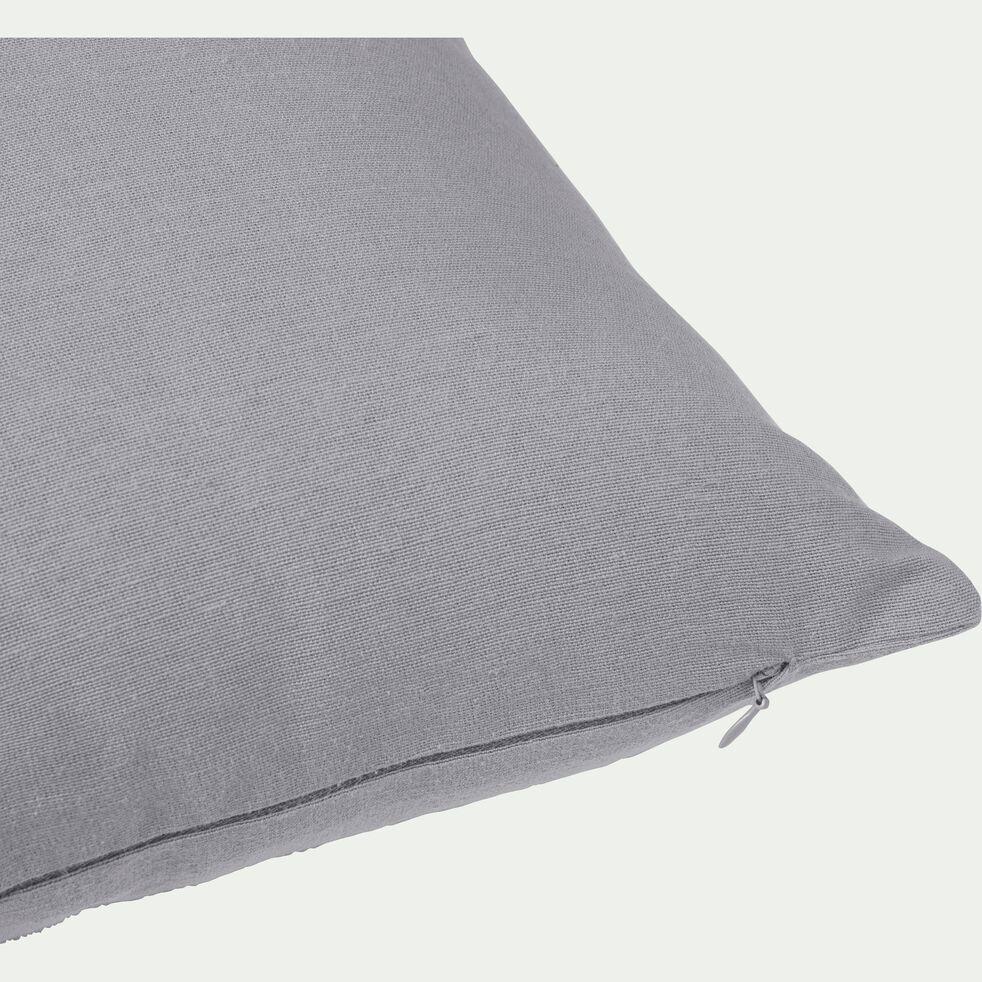 Coussin de sol en coton - gris restanque 70x70cm-CALANQUES