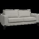 Canapé 3 places fixe en tissu gris restanque-CALIFORNIA