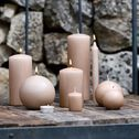 Bougie ronde - rose sable D10cm-HALBA