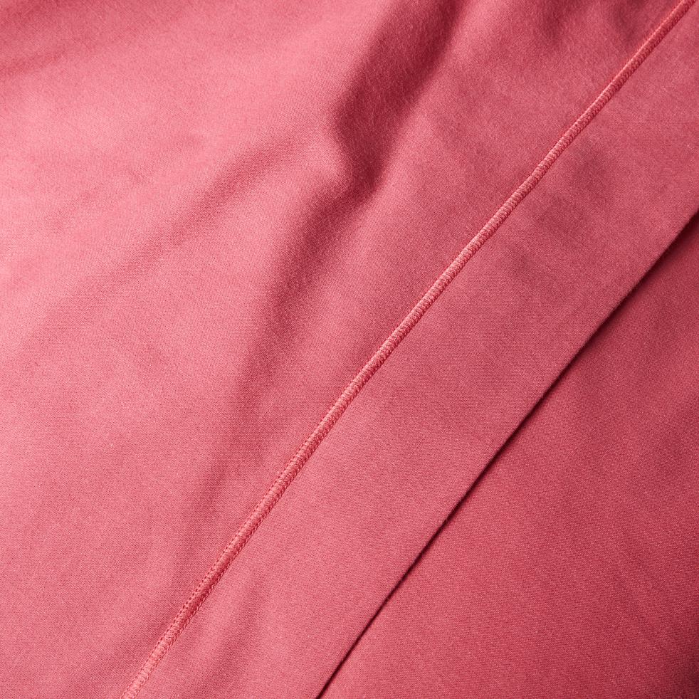 Drap plat en coton Rouge arbouse  270x300cm-CALANQUES