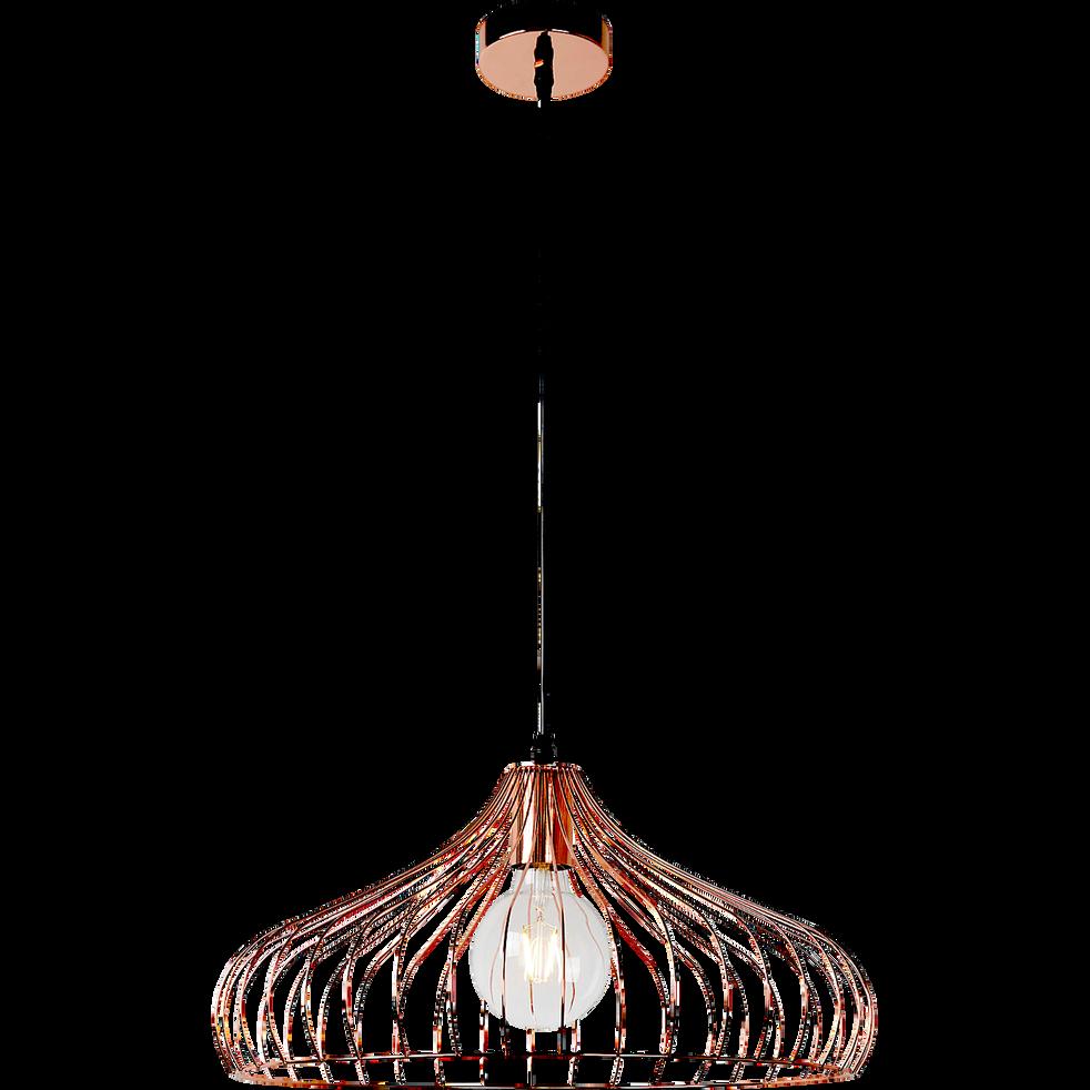 suspension filaire forme vas e en m tal cuivr d44 5cm vinti catalogue storefront alin a. Black Bedroom Furniture Sets. Home Design Ideas