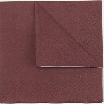 Lot de 20 serviettes en papier rouge sumac 33x33cm-SAZE