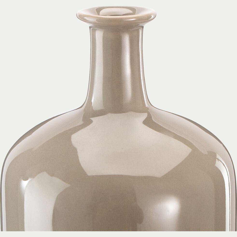 Vase bouteille en grès - beige alpilles H15cm-VOUGNE