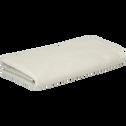Serviette de bain beige roucas 50x90cm-COLINE