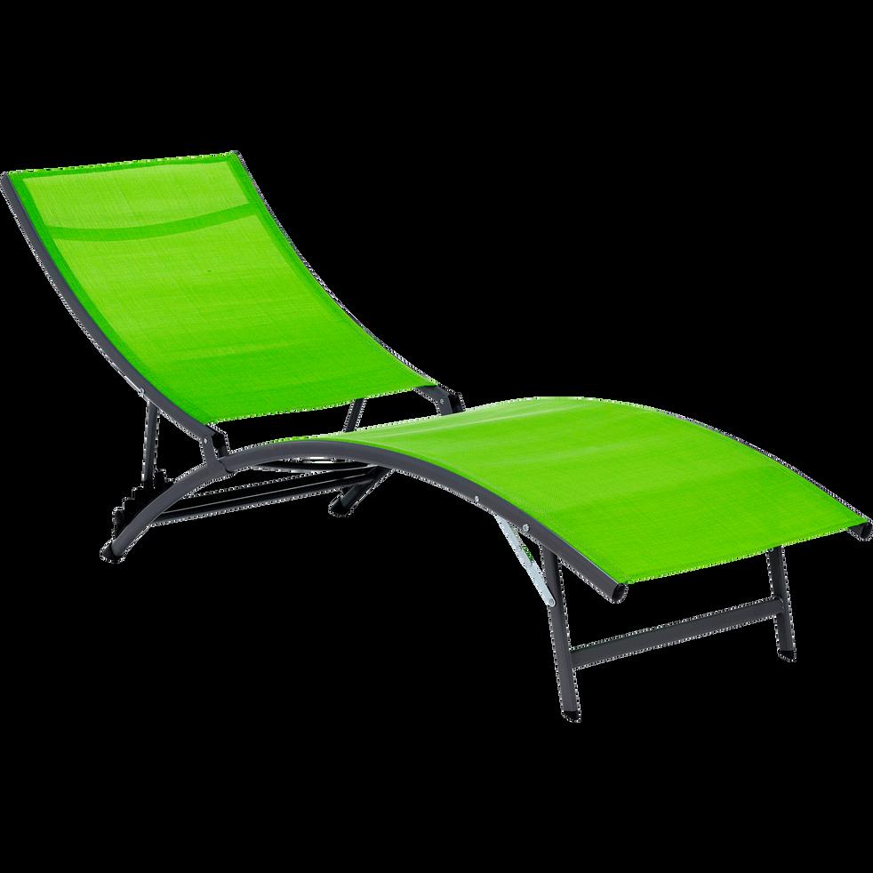 Bain de soleil vert en textilène-ZEUS