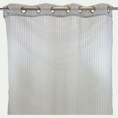 Voilage à œillets gris 140x250cm-Lyon