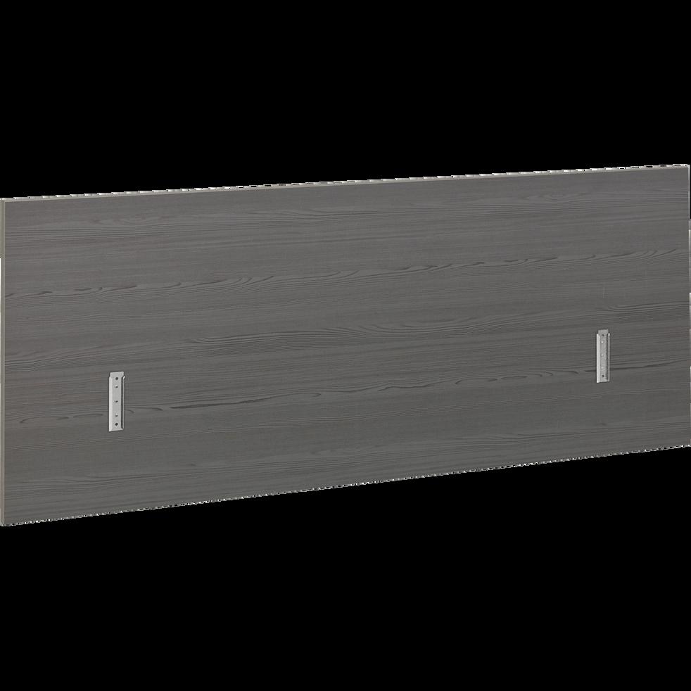 Tête de lit grise pour lit L140 cm et L160 cm-BROOKLYN
