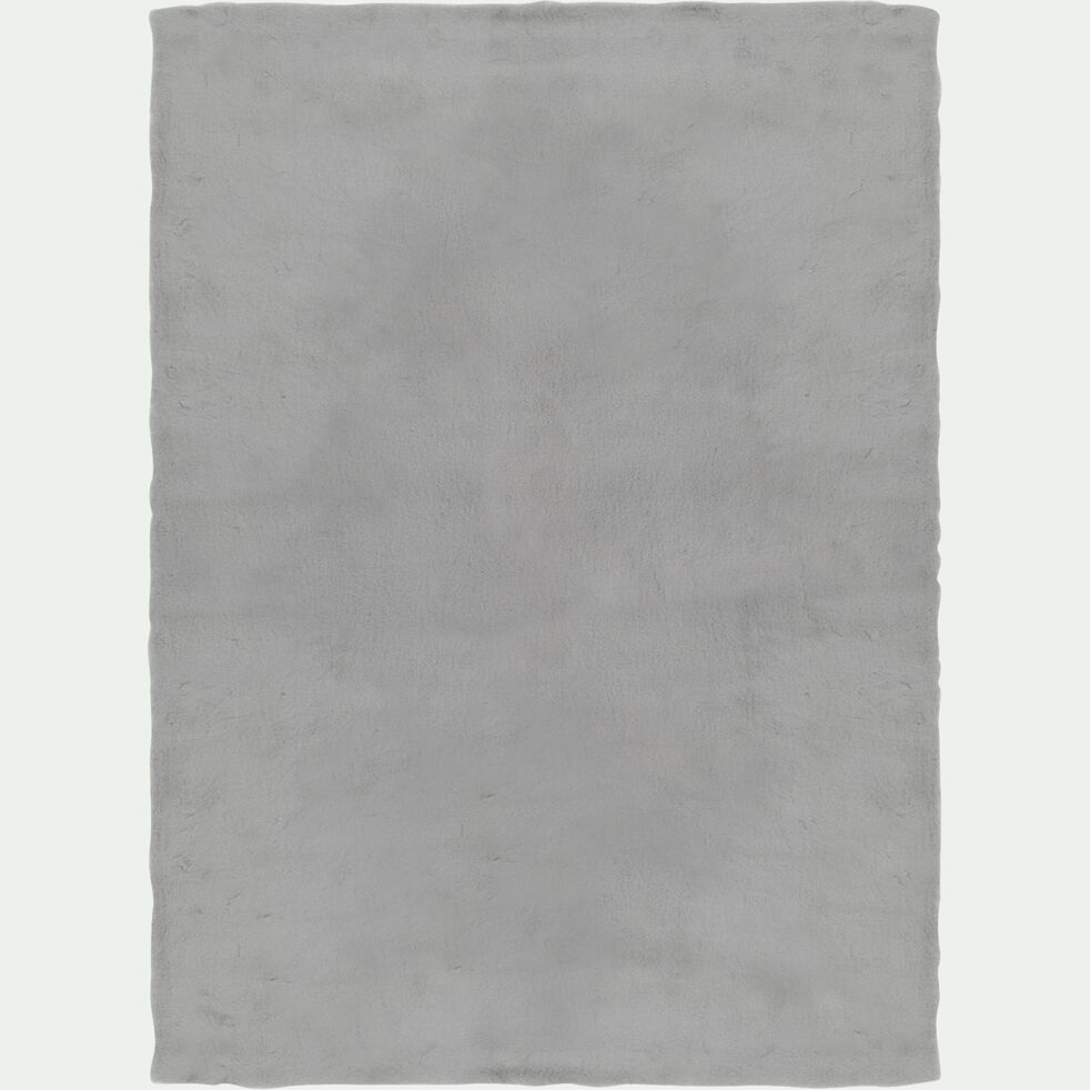 Tapis imitation fourrure - gris 120x160cm-JOUVE