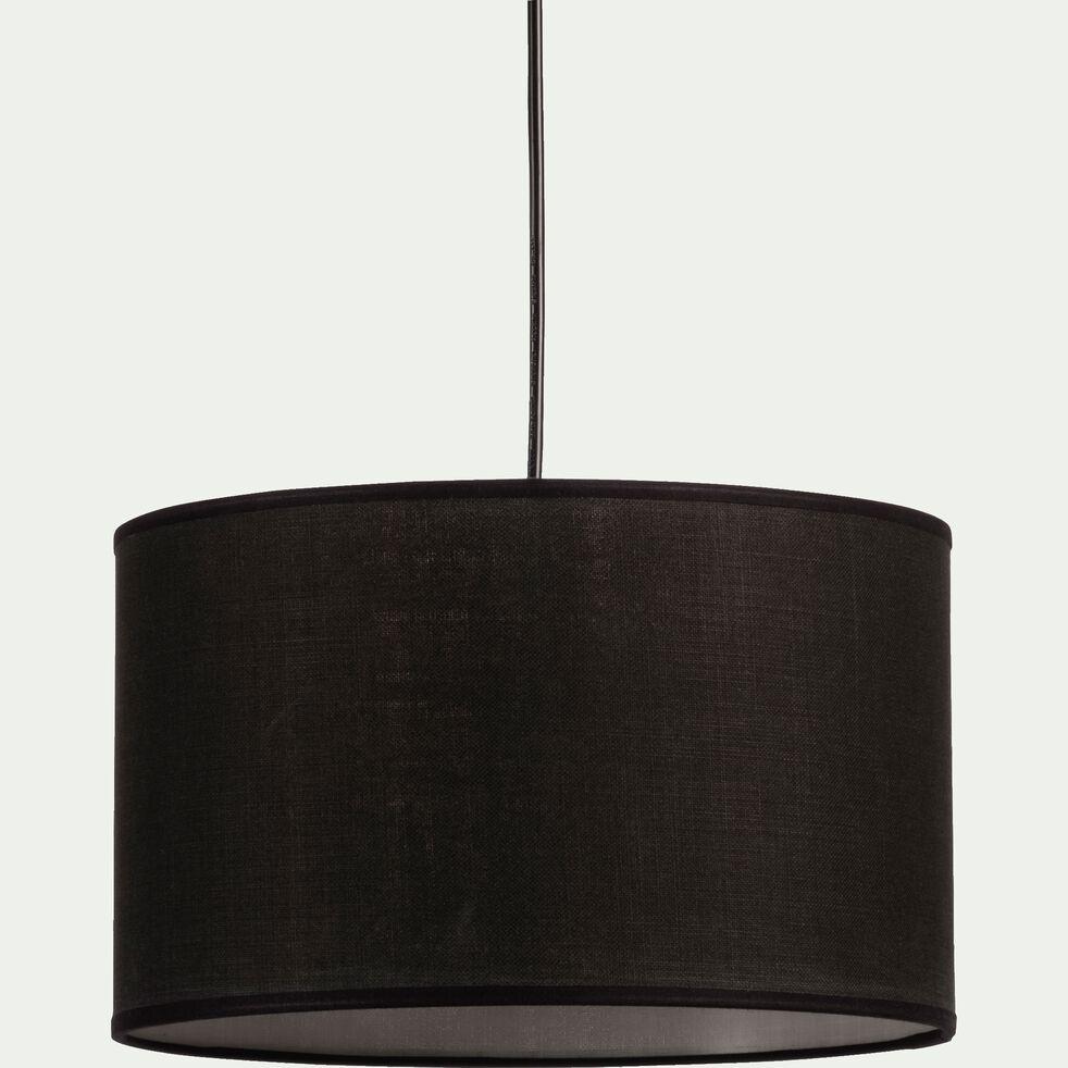 Suspension cylindrique en coton - D60cm noir-MISTRAL