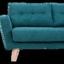 Canapé d'angle fixe droit en tissu vert-ICONE