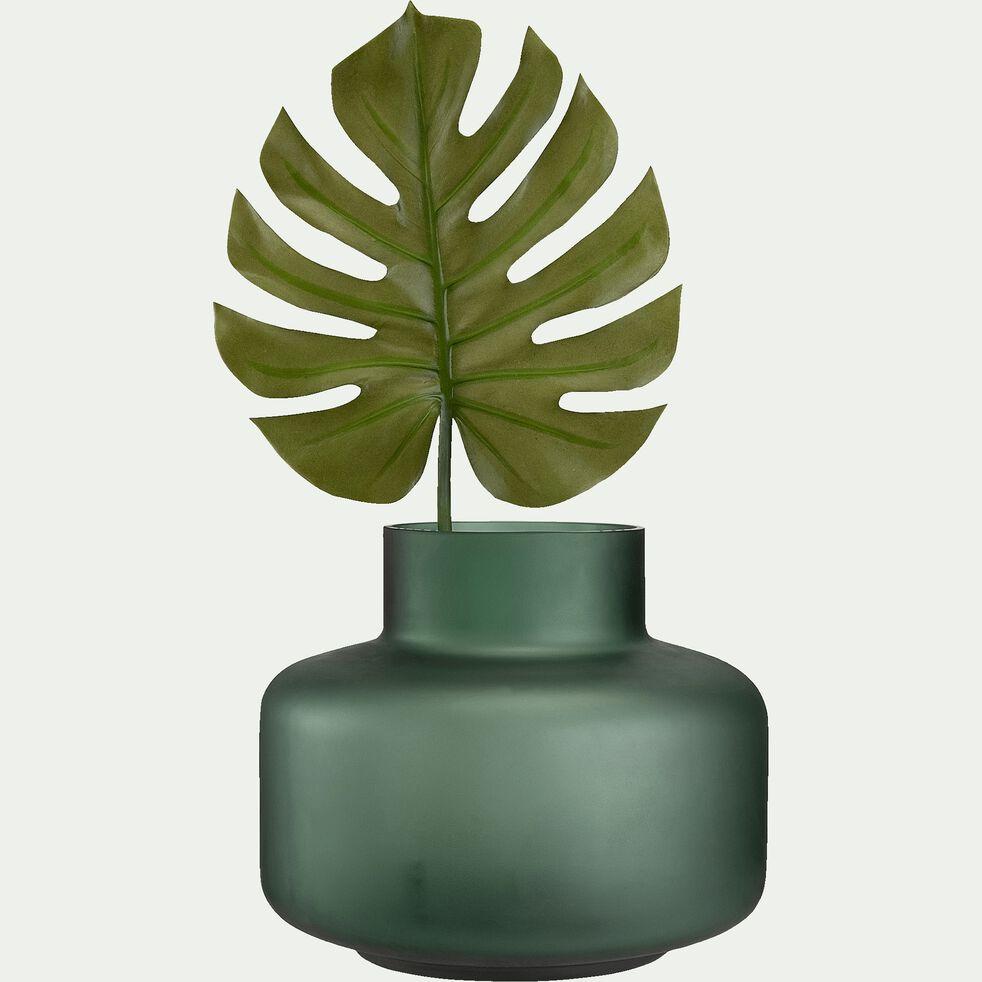 Vase en verre poli - vert D30xH25,5cm-ANDREJ
