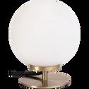 Lampe à poser en métal et verre H18,5cm-MARIA