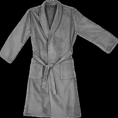Peignoir en coton L/XL en gris restanque-AZUR