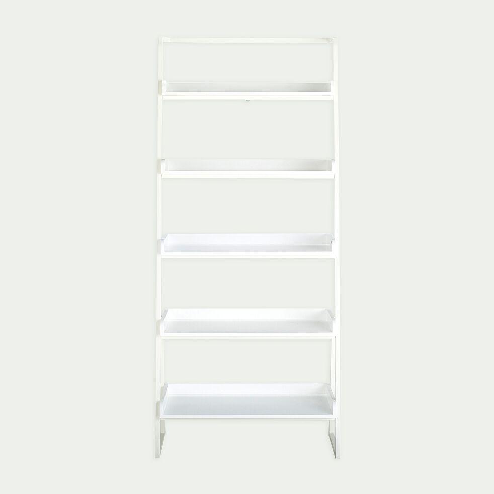 Etagere 5 Tablettes En Bois Et Metal Blanc L80cm Estanier Bibliotheque Et Etagere Alinea