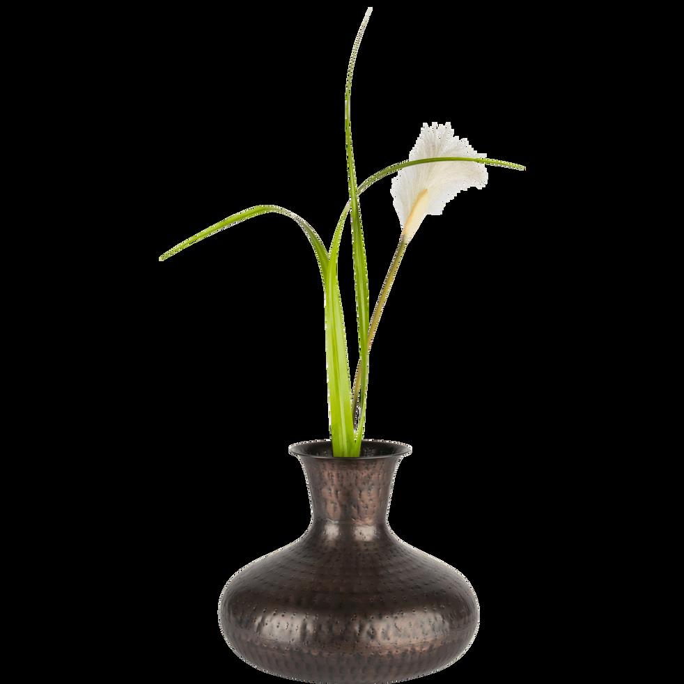 Vase coloris bronze D30xH25cm-POLLUX