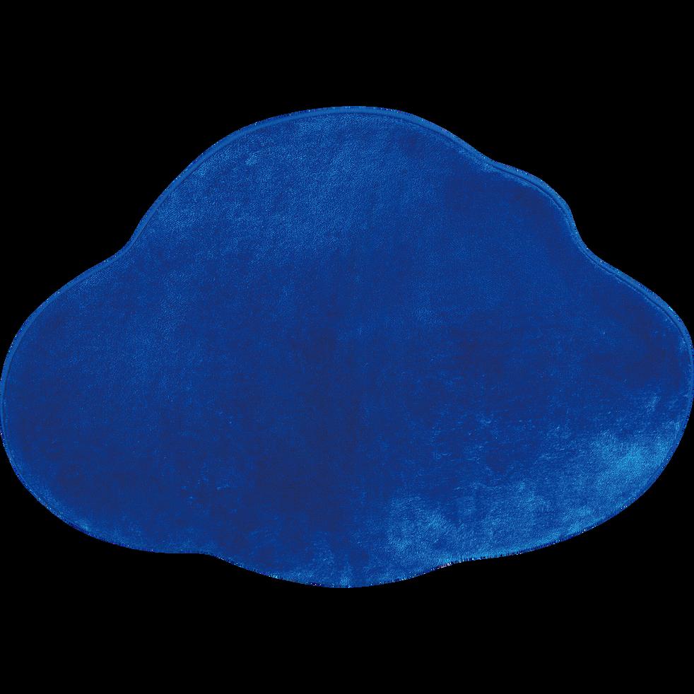 Tapis enfant en forme de nuage 70x90cm bleu-SWEET