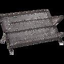 Égouttoir pliable en métal noir-Blake
