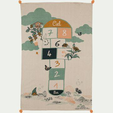 Tapis imprimé marelle 120x180cm - multicolore-RECRE