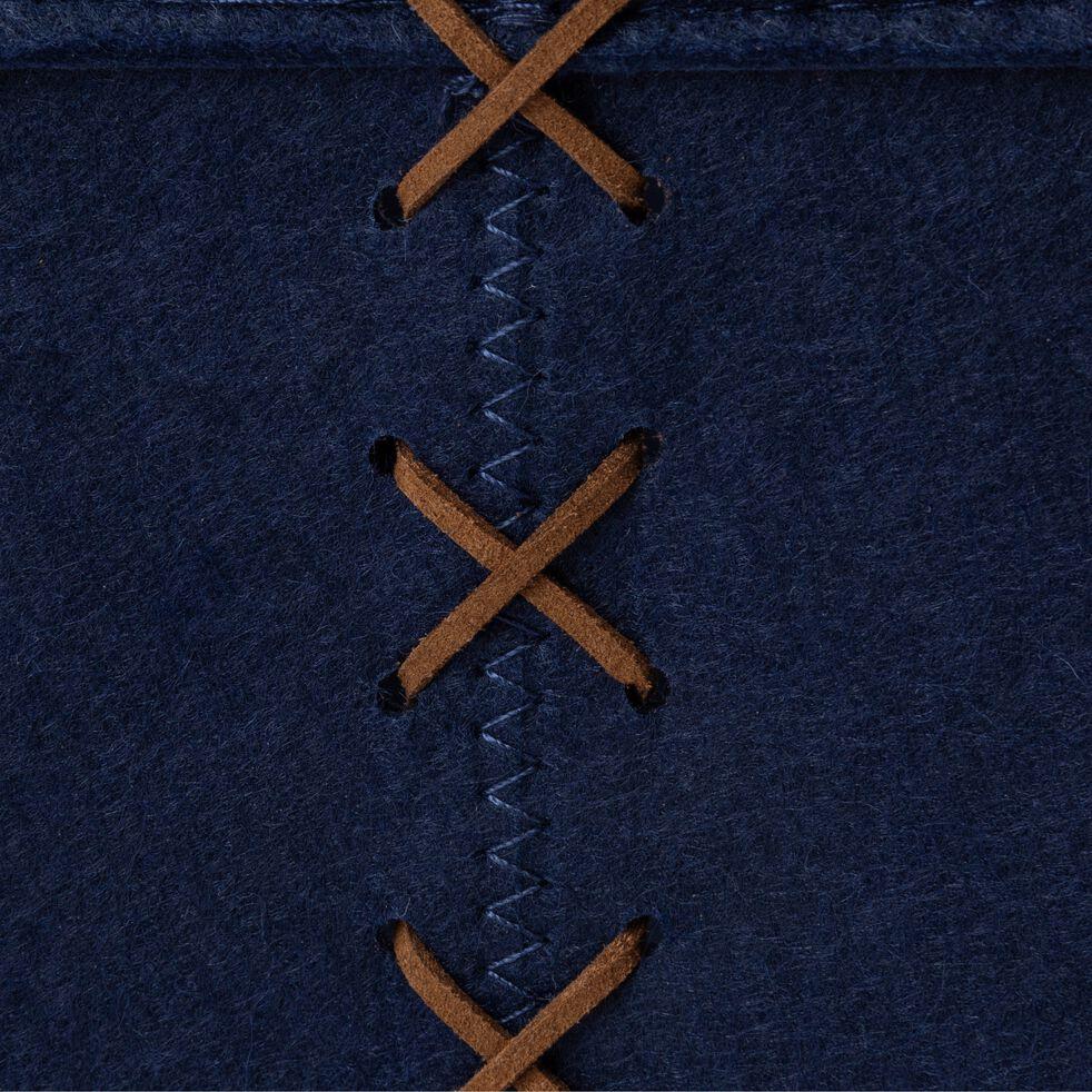 Lot de 2 paniers en feutrine - bleu myrte-VIC