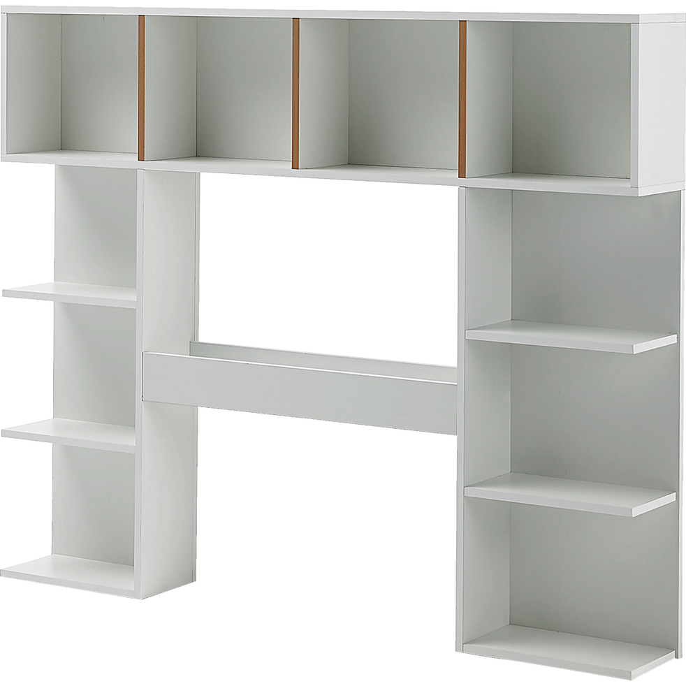 t te de lit rangeante blanche pour lit l140cm izy. Black Bedroom Furniture Sets. Home Design Ideas