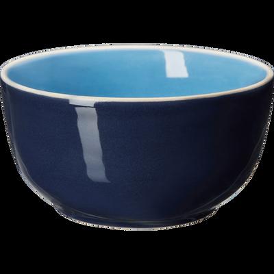 Coupelle bicolore en faïence bleue D14cm-CANOPE