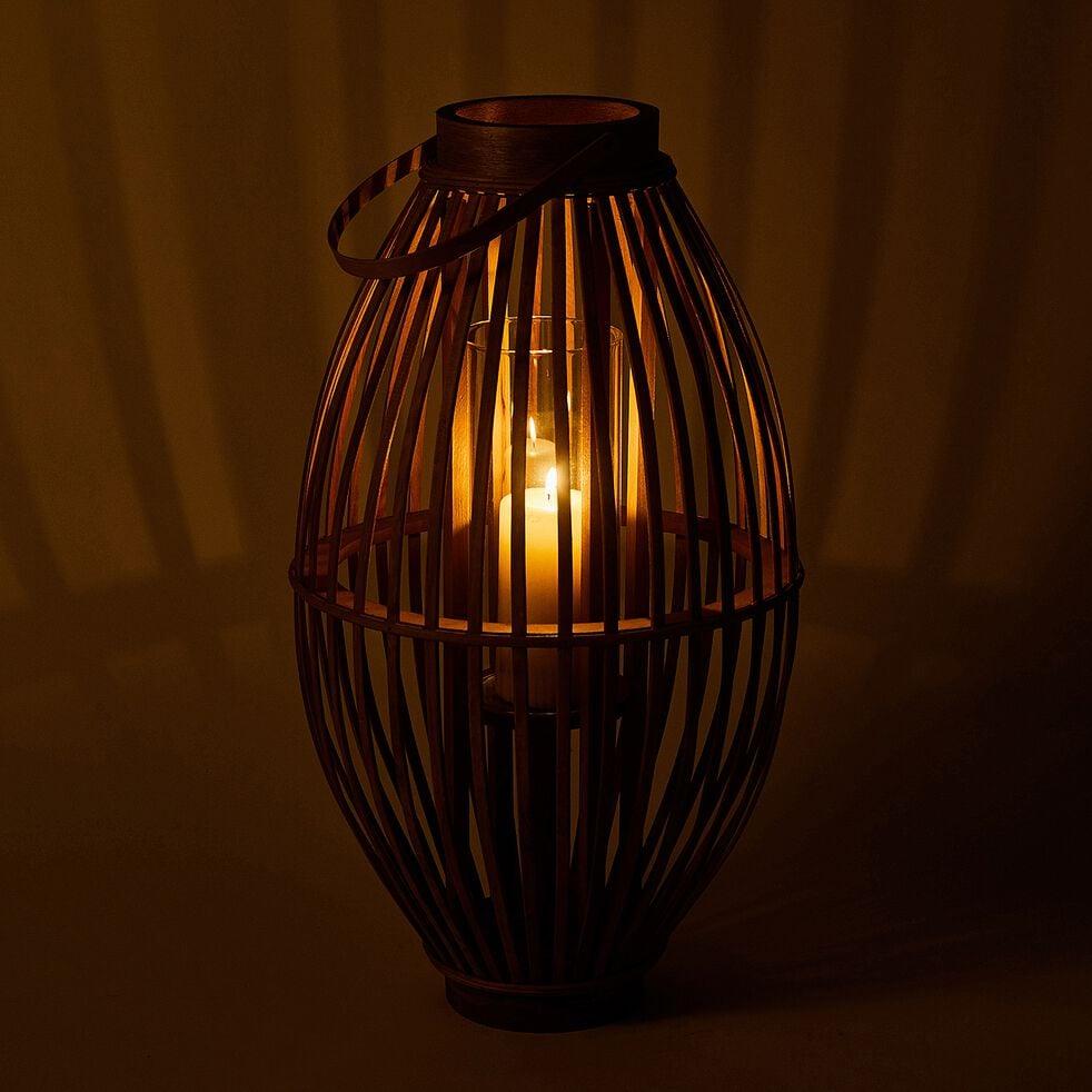 Lanterne en rotin - naturel D34.5xH60.5cm-OMBELINE