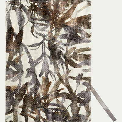 Carnet A5 à motif floral - marron-EIGARELLA