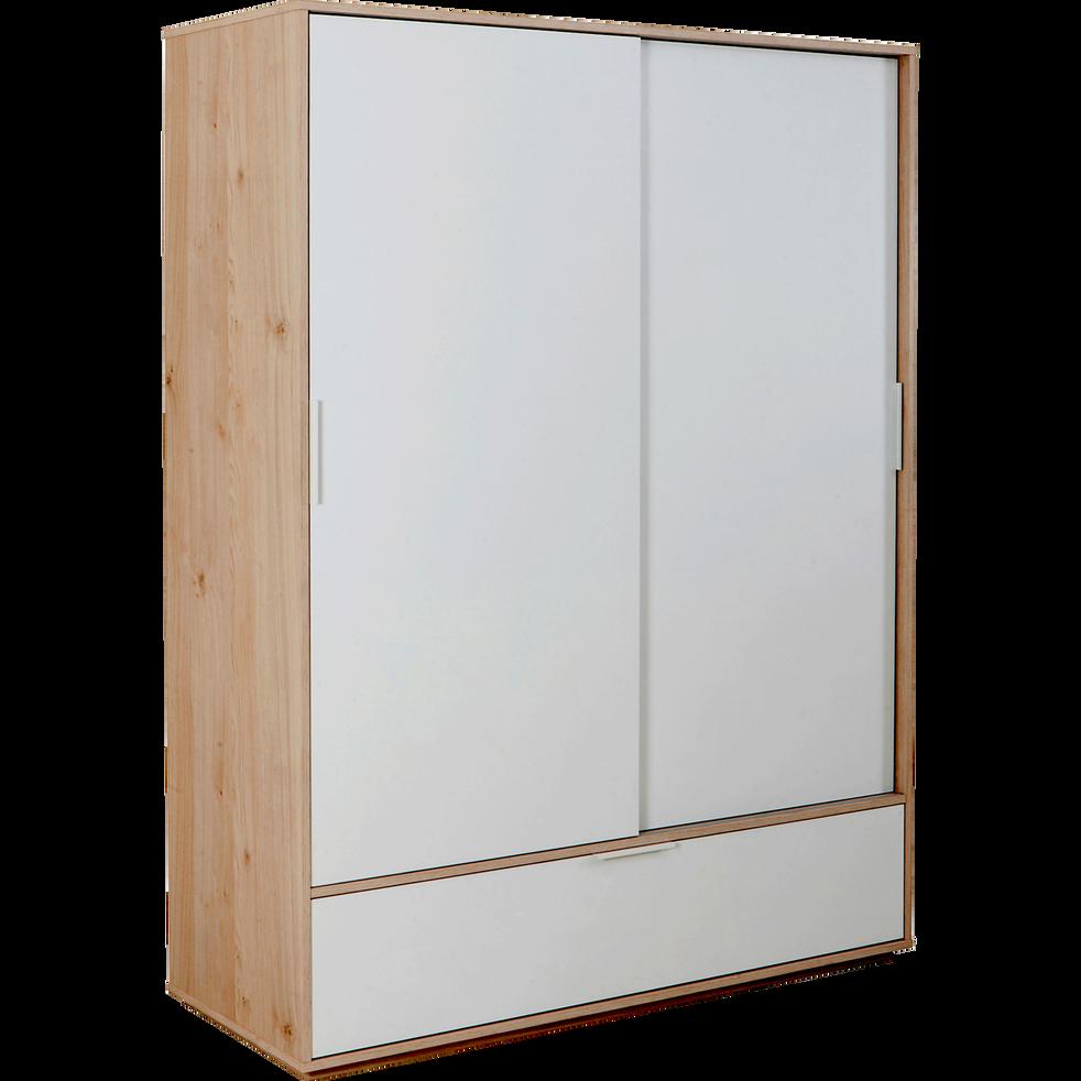 armoire effet ch ne clair 2 portes coulissantes 1 tiroir milano armoires alinea. Black Bedroom Furniture Sets. Home Design Ideas