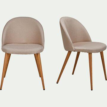 Chaise en tissu sable-ROMANE