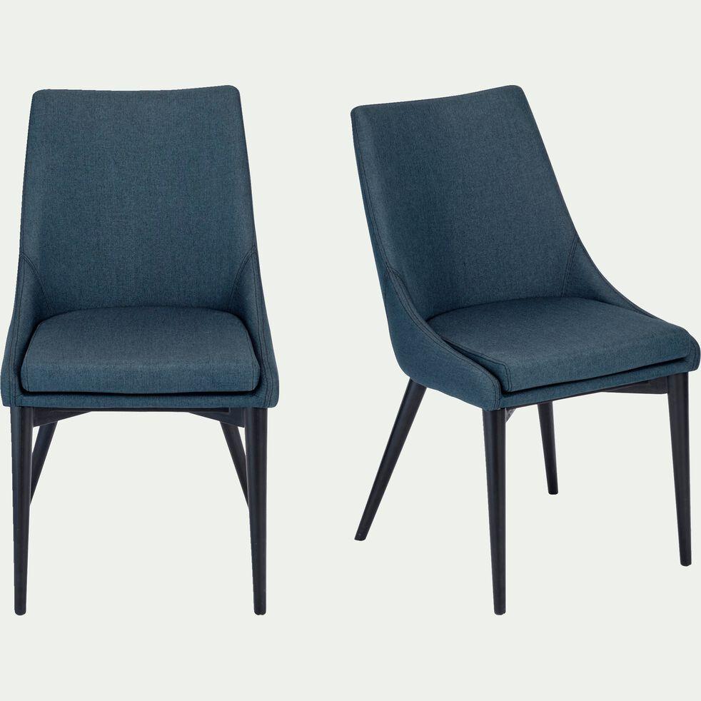 Chaise en tissu - bleu figuerolles-ABBY