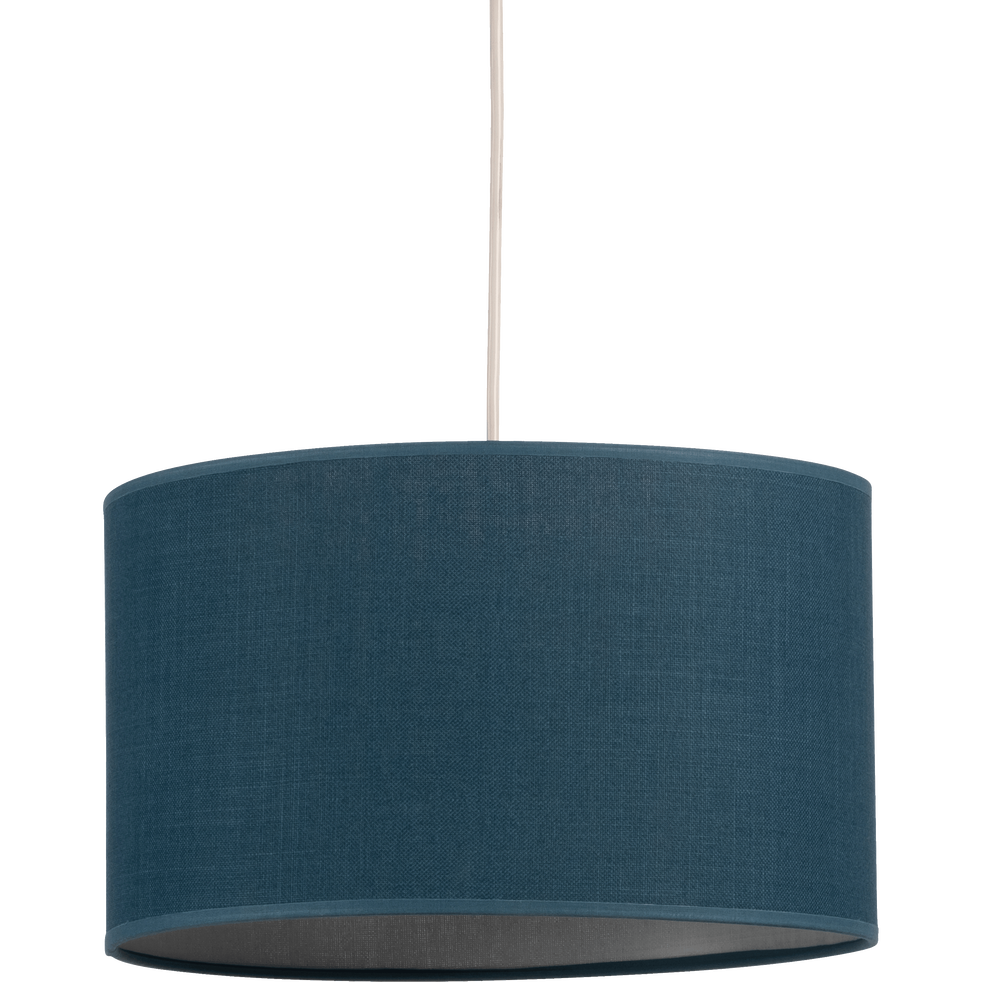 suspension non lectrifi e en tissu bleu d40cm mistral. Black Bedroom Furniture Sets. Home Design Ideas