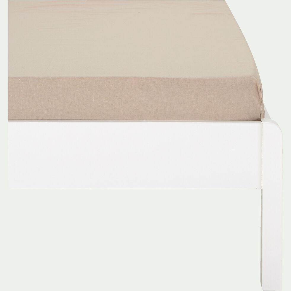 Drap housse enfant en coton 90x140+B15cm - beige alpilles-Calanques