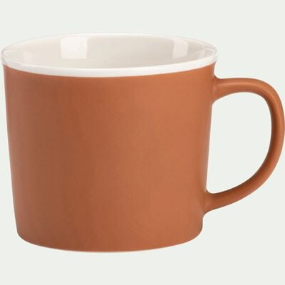 Mug en porcelaine orange 35cl-CAFI