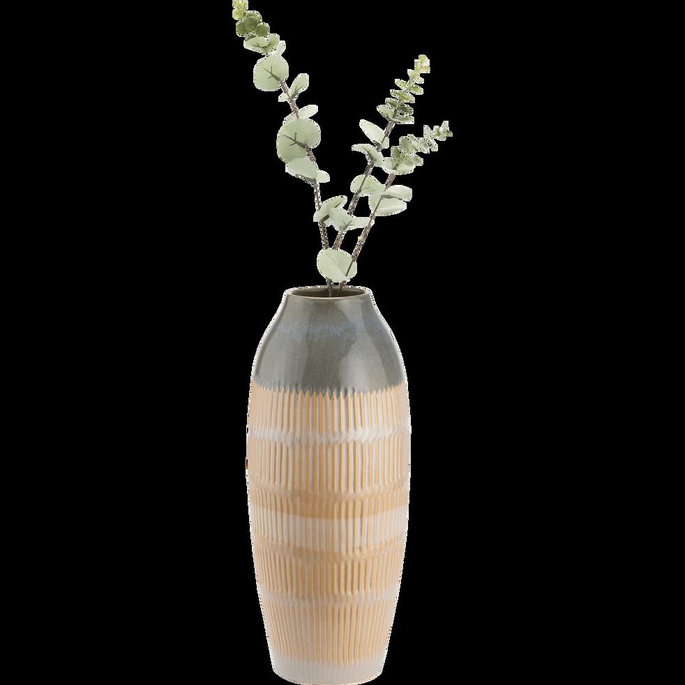 Vase en céramique beige H45cm-AYDAR