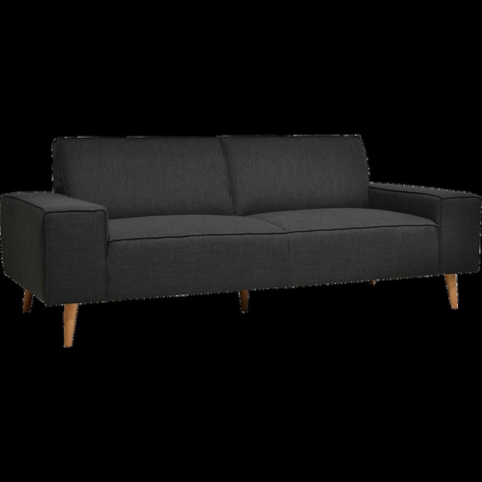 Canapé 3 places fixe en tissu gris borie-COSMO