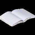 Carnet format A5 motif laurier - noir et blanc-Laurier