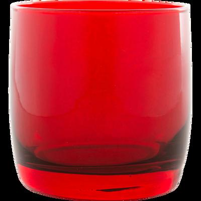 Verre à eau rouge 30cl-BELLI